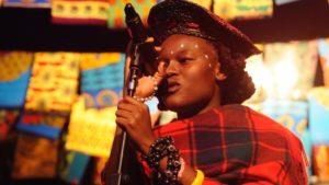 "Zimbabwean female rapper, AWA (source: BBC Newsbeat ""Meet AWA, the Zimbabwean using hip-hop to improve human rights in her country"")"